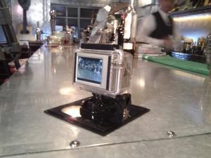 卓上からの撮影でGoProを使用